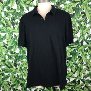 Standard James Perse Black Polo Collared Shirt